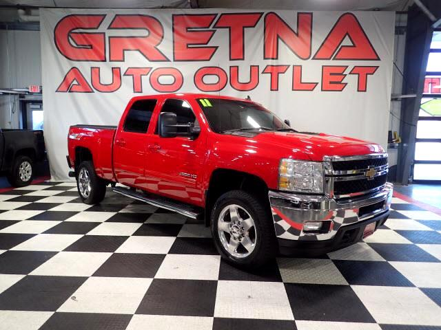2011 Chevrolet Silverado 2500HD VICTORY RED CREW LTZ 4X4 DURAMAX LEATHER ROOF DVD!
