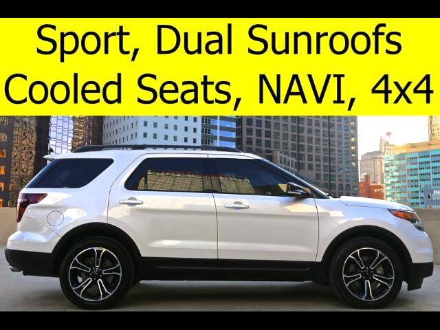 2015 Ford Explorer SPORT 4x4 SUNROOF COOLED SEATS QUAD CHAIRS