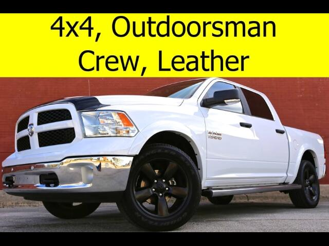 2016 RAM 1500 CREW CAB LEATHER OUTDOORSMAN 4x4 HEATED SEATS