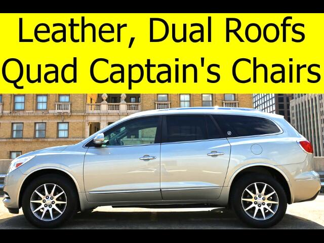 2014 Buick Enclave LEATHER SUNROOFS QUAD CHAIRS