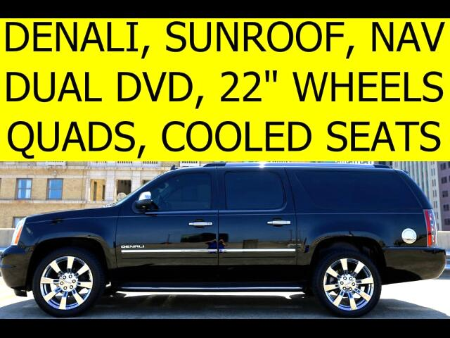 2013 GMC Yukon Denali XL DENALI QUAD CHAIRS DVDS COOLED SEATS SUNROOF