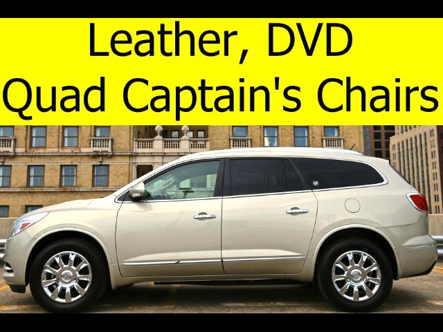 2014 Buick Enclave LEATHER DVD QUAD CHAIRS