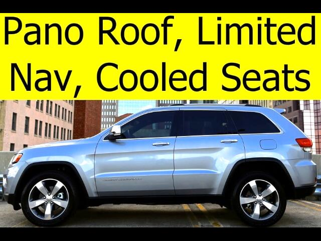 2014 Jeep Grand Cherokee LIMITED PANO ROOF COOLED SEATS TOW PACKAGE