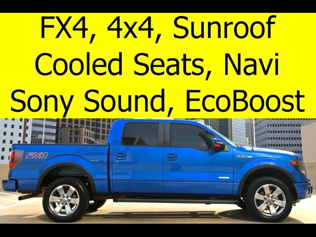 2013 Ford F-150 SUPERCREW 4x4 FX4 LEATHER SUNROOF NAVIGATION COOLE