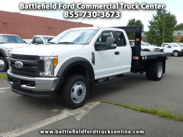 2017 Ford Super Duty F-550 DRW SuperCab 4x4 XL w/12' Platform Body