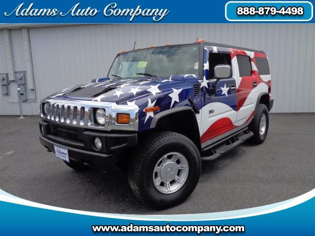 2003 HUMMER H2 WOW look at this one its as clean as it is patriotic only 30k miles heated leath