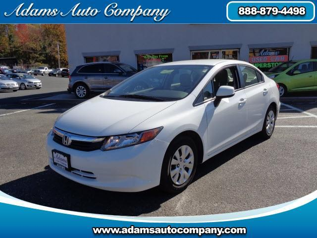 2012 Honda Civic This vehicle is another example of the Adams Auto Company commitment to stock vehic
