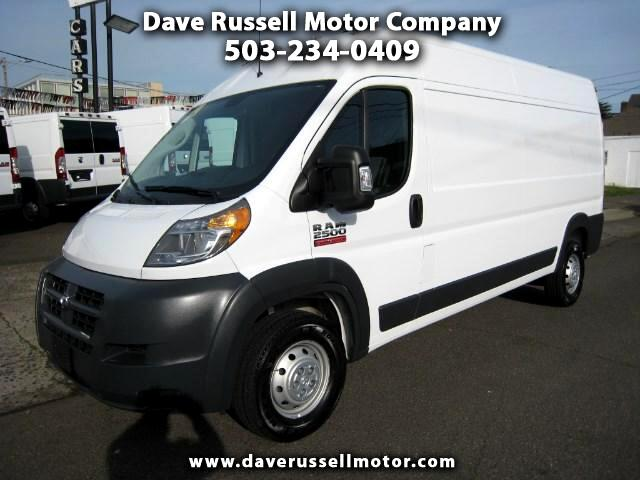 2018 RAM Promaster 2500 High Roof Tradesman Cargo Van 159-in. WB