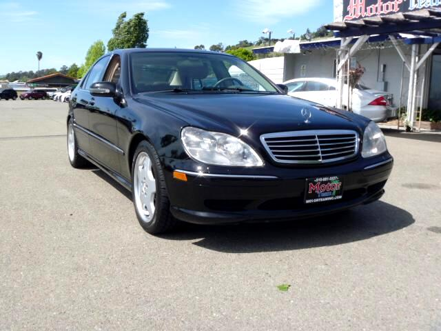 2001 Mercedes S-Class Extended service Plan And Finance Available Please bring this ad with you to