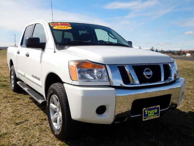 2011 Nissan Titan S Crew Cab 4WD LOW MILES CLEAN