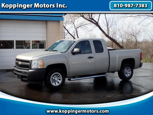 used 2009 chevrolet silverado 1500 work truck ext cab long box 2wd for sale in fort gratiot mi. Black Bedroom Furniture Sets. Home Design Ideas