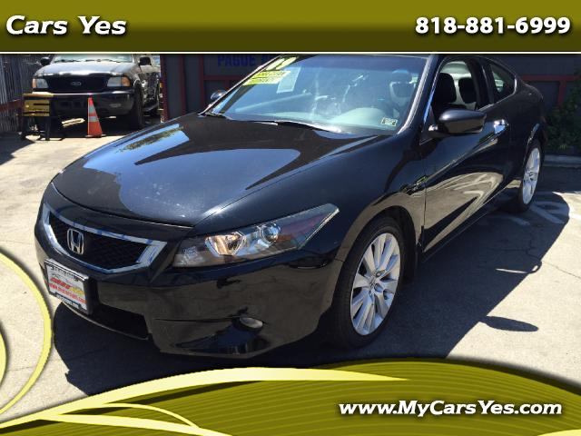 2009 Honda Accord WOW 2009 ACCORD EX-L COUPE LEATHER SUN ROOF AUTO TOP OF THE LINE BLACK ON BLACK Jo