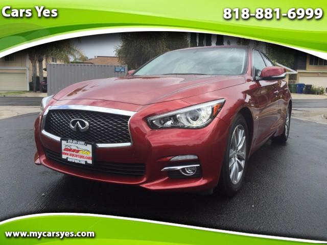 2015 Infiniti Q50 wow check this one out black leather with navigation Bluetooth for you phone and