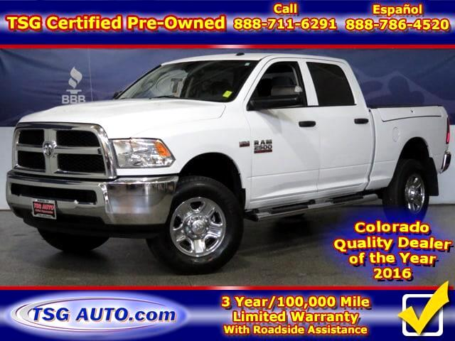 2016 RAM 2500 Tradesman Crew Cab 6.4L V8 4WD W/Side Bed tool box