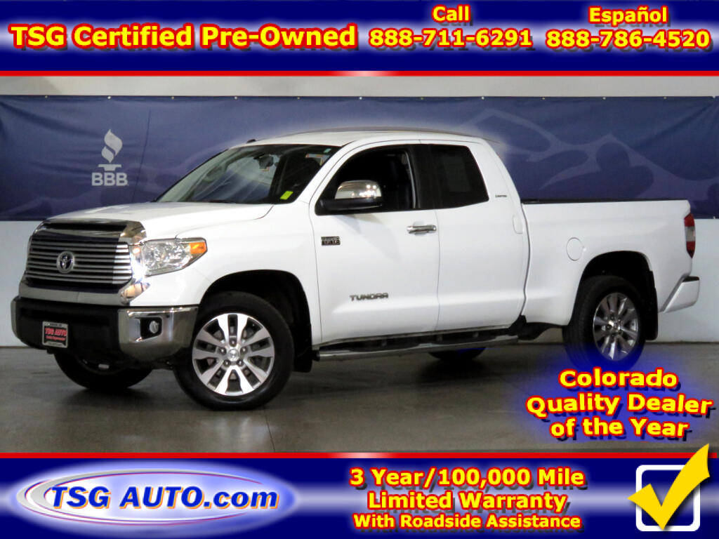 2016 Toyota Tundra Limited 5.7L V8 4WD W/Leather
