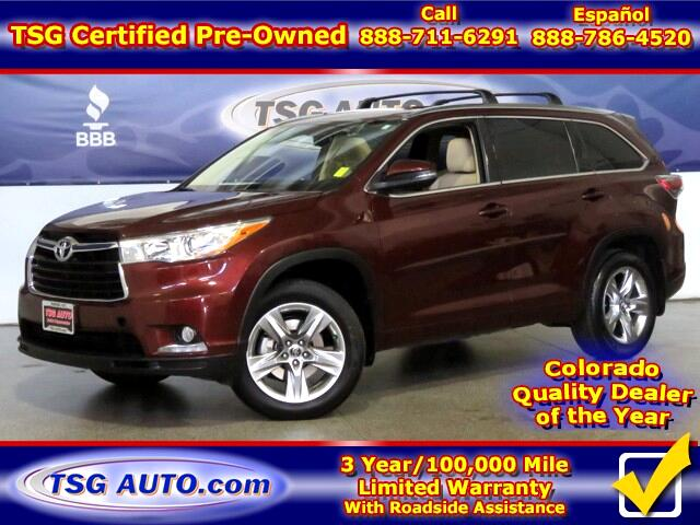 2016 Toyota Highlander Limited 3.5L V6 AWD W/NAV Leather