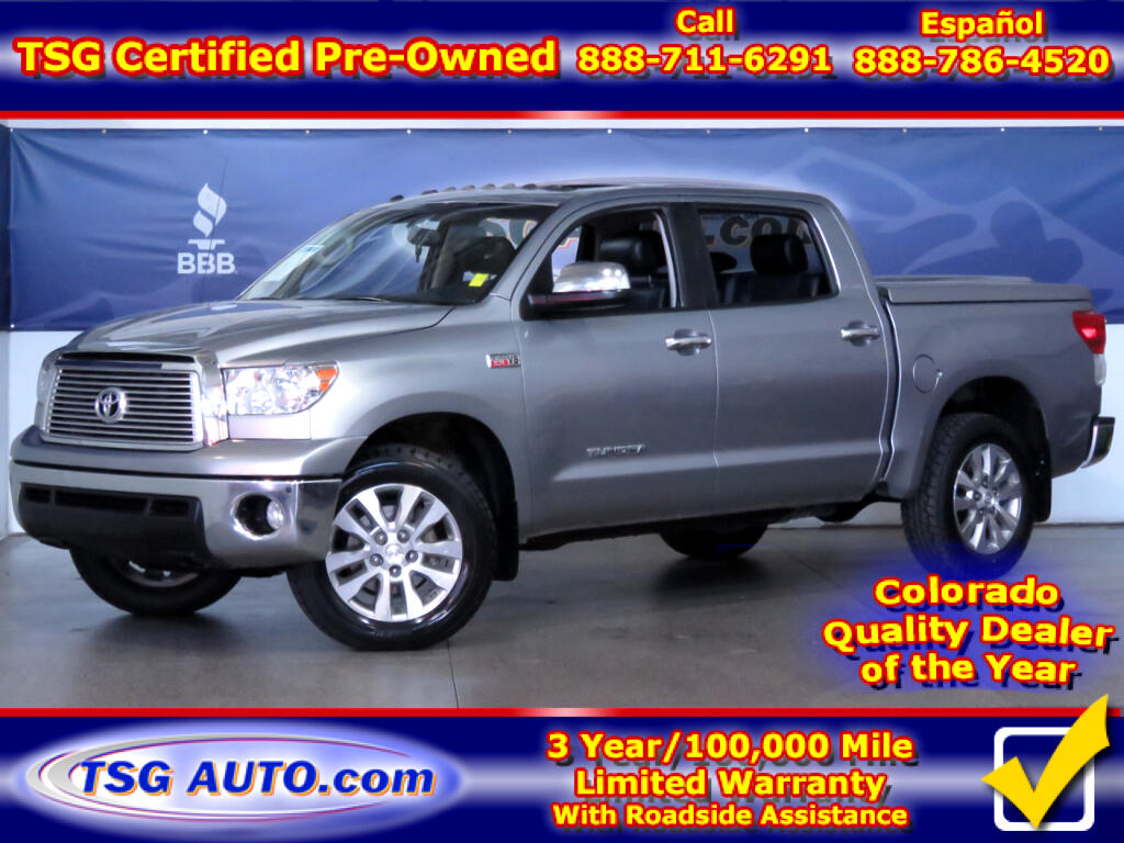 2013 Toyota Tundra Platinum CrewMax 5.7L V8 4WD W/Nav Leather