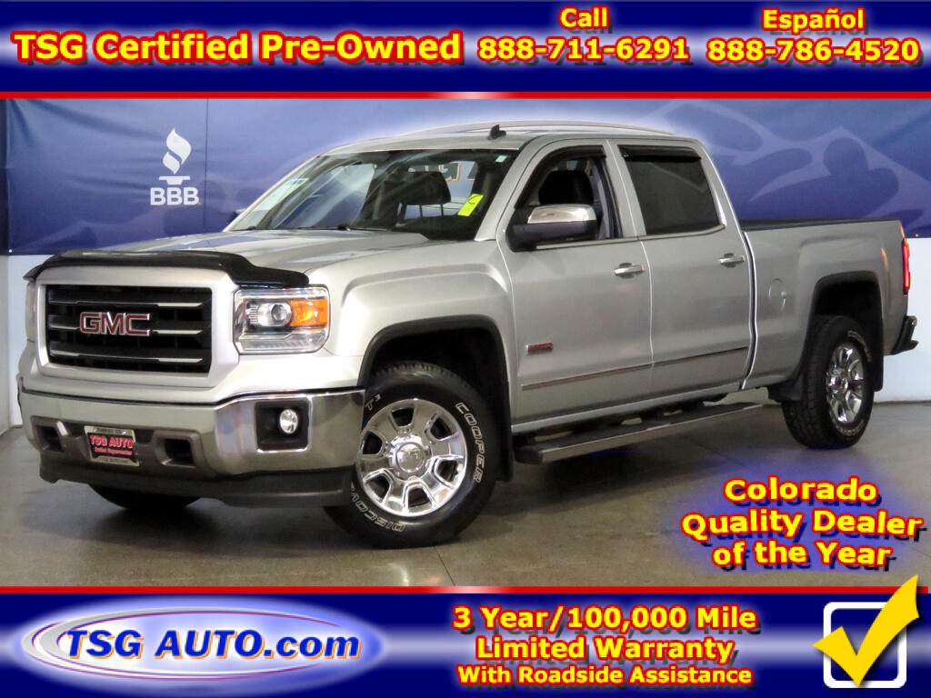 2014 GMC Sierra 1500 SLT Crew Cab 5.3L V8 4WD W/Leather