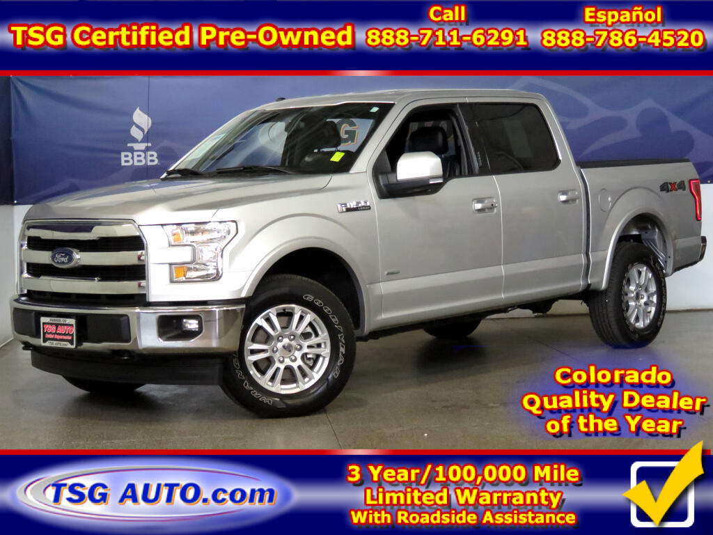 2017 Ford F-150 Lariat Super Crew 3.5L V6 Turbo 4WD W/Leather