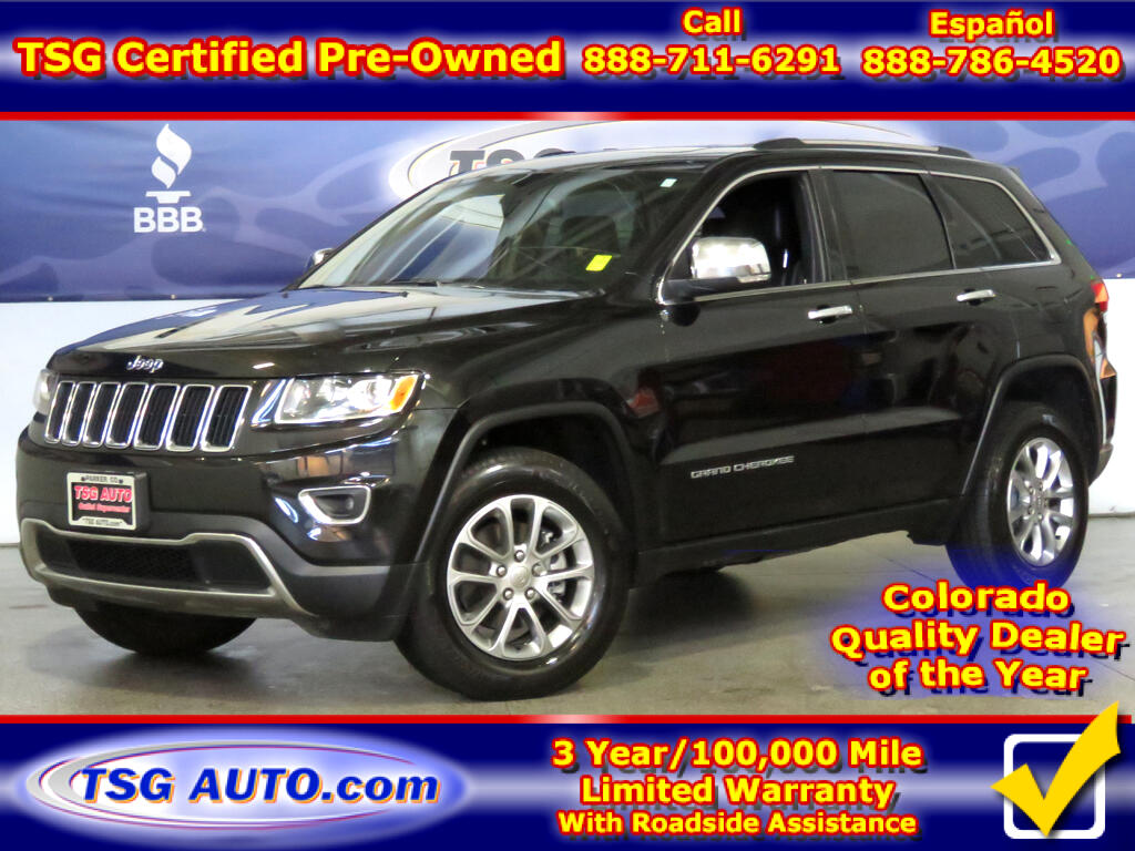 2015 Jeep Grand Cherokee Limited 3.6L V6 4WD W/Leather
