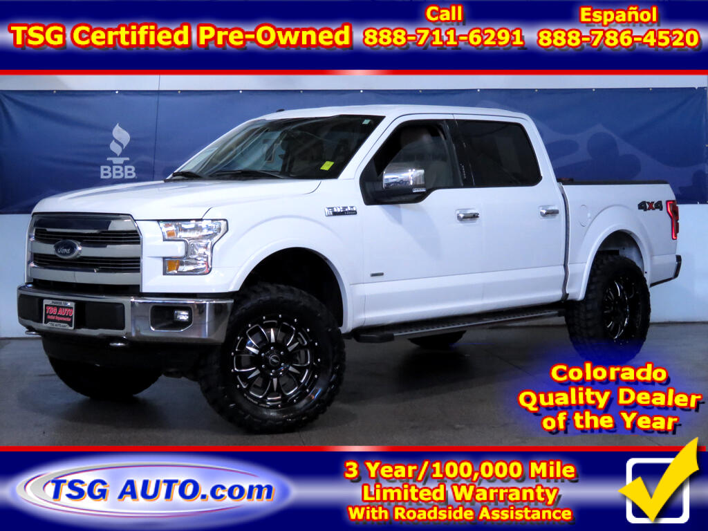 2015 Ford F-150 Lariat Super Crew 2.7L V6 Turbo 4WD W/Lift