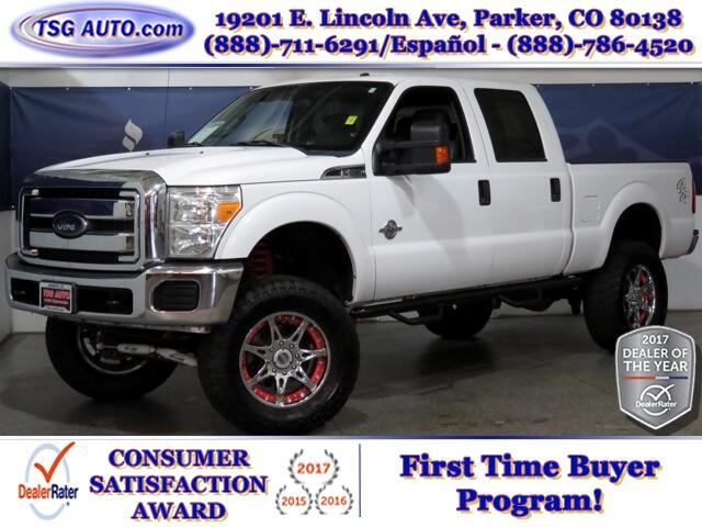 2015 Ford F-250 SD XLT Crew 6.7L V8 Turbo Diesel 4WD w/Lthr & Lift
