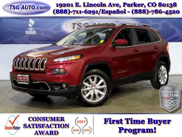 2014 Jeep Cherokee Limited 3.2L V6 4WD W/Leather
