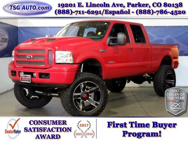 2005 Ford F-250 SD XLT SuperCrew 6.0L V8 4WD W/Leather Lift