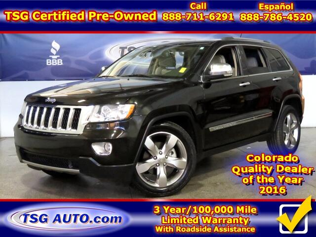2011 Jeep Grand Cherokee Overland 3.6L V6 4WD W/Nav Leather SunRoof