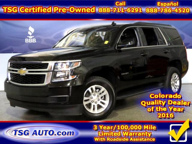2016 Chevrolet Tahoe LT 5.3L V8 4WD W/Leather ThirdRow