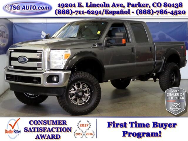 2011 Ford F-250 SD XLT SuperCrew 6.2L V8 4WD W/Custom Wheels/Lift