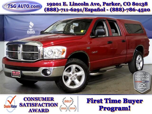2008 Dodge Ram 1500 Big Horn Quad Cab 5.7L V8 4WD W/Topper