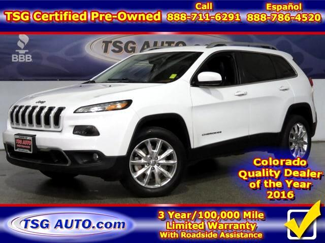 2015 Jeep Cherokee Limited 2.4L I4 AWD W/Leather