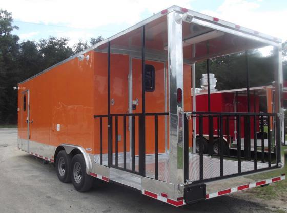 2017 United Trailers Concession 27 ft Custom BBQ Trailer