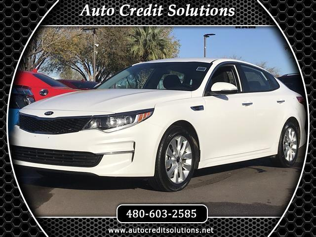 2017 Kia Optima Snow White Pearl 2017 Kia Optima FWD 4D SedanCertified CARFAX One-Owner Clean CAR