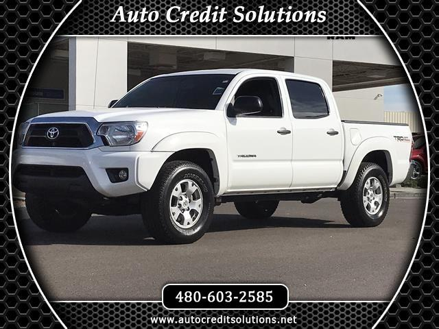 2013 Toyota Tacoma Recent ArrivalSuper White 2013 Toyota Tacoma V6 4WD 4D Double Cab includes down