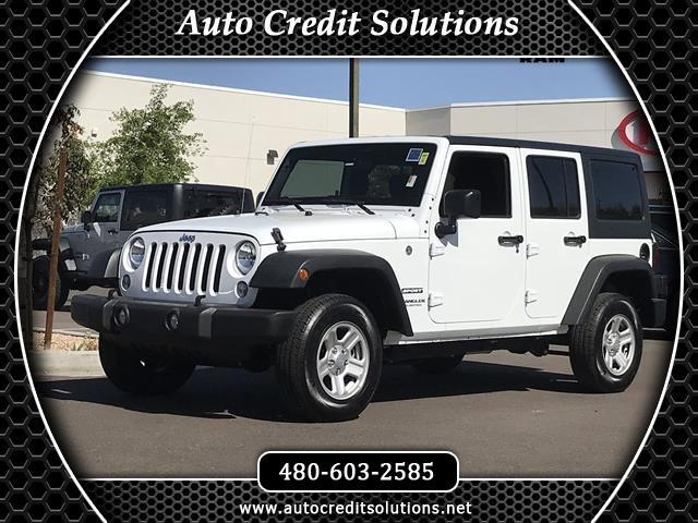 2017 Jeep Wrangler Recent ArrivalThis Bright White Clearcoat 2017 Jeep Wrangler 4WD 4D Sport Utili