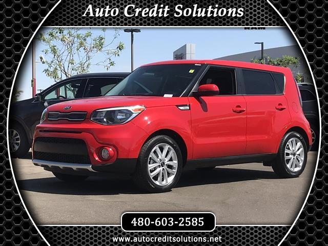 2018 Kia Soul Recent ArrivalThis Inferno Red 2018 Kia Soul FWD 4D Hatchback includes -- hill start