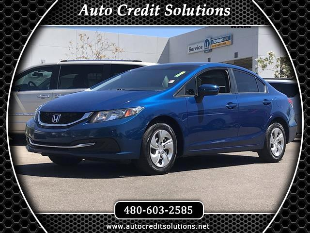 2014 Honda Civic Recent ArrivalThis Blue 2014 Honda Civic FWD 4D Sedan includes tractionstability