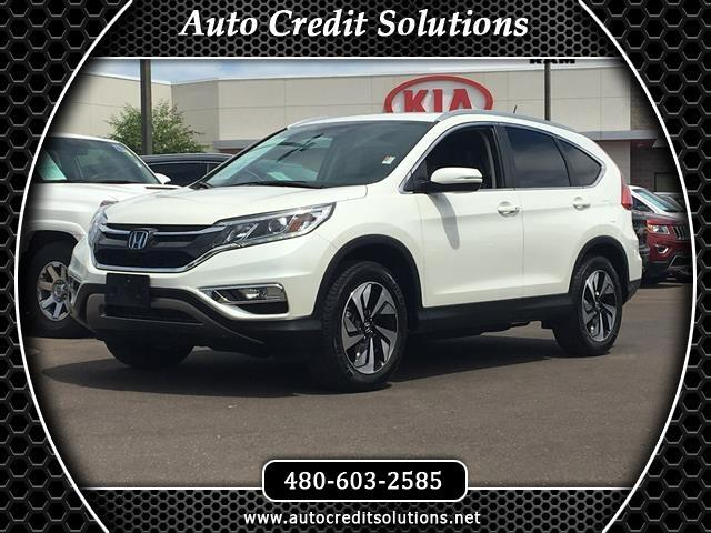 2015 Honda CR-V This 2015 Honda CR-V Touring AWD in White Diamond pearl has a Clean One-Owner CARFA