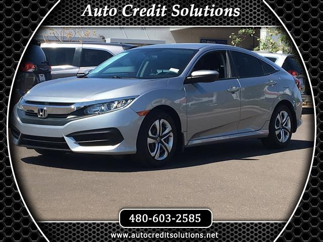 2016 Honda Civic GREAT GAS MILEAGE This 2016 Honda Civic LX has a Clean One-Owner CARFAX and get