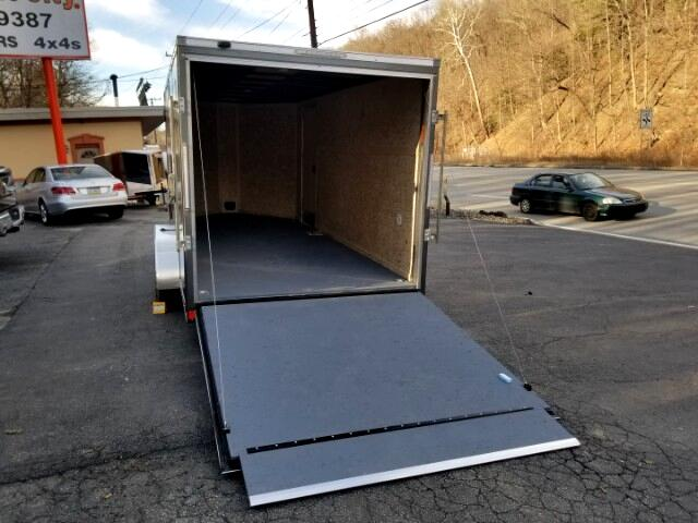 2019 Pace American 7X16 Cargo Sport, 6'' Extra Height, Ramp Door