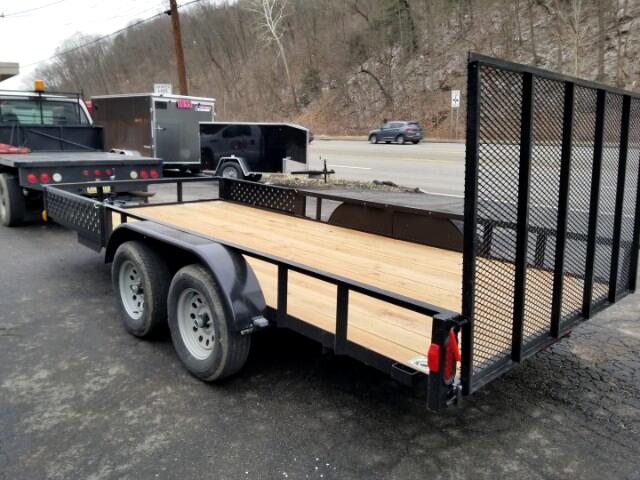 2019 Forest River Utility Trailer 7x16, 7000 GVW, ATV Package