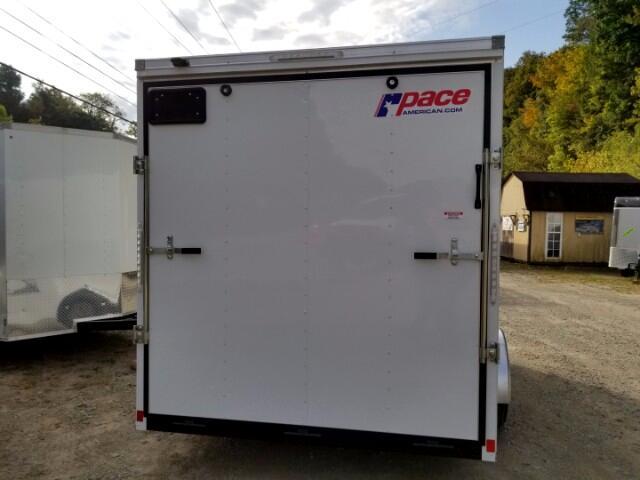 2018 Pace American 7X12 Journey, Ramp Door, 12'' Extra Height