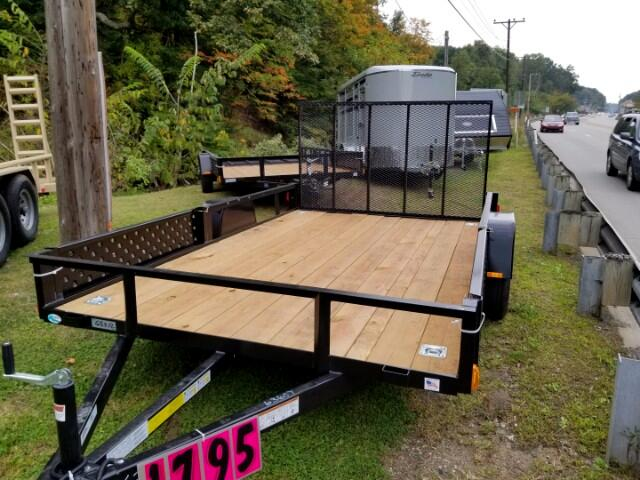 2018 Forest River USASG6512SA 7x12 utility trailer, ATV package