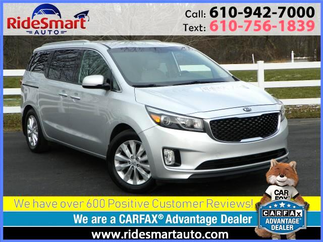 2015 Kia Sedona EX-Leather-Power Side Doors-Bluetooth