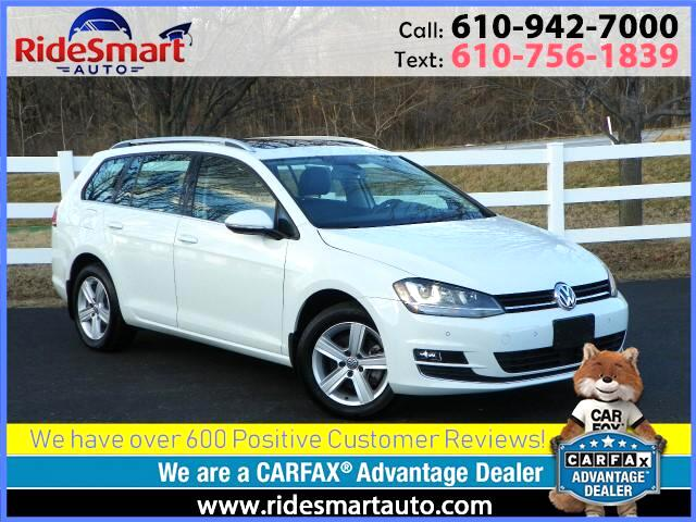 2015 Volkswagen Golf SportWagen TDI SEL- Navigation - Leather - Sunroof