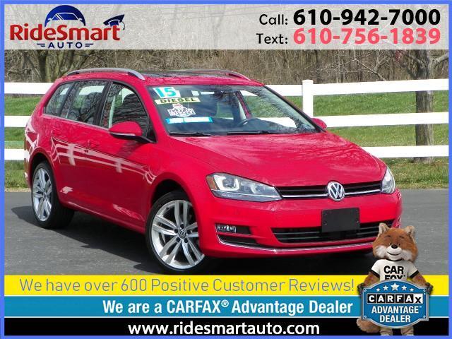 2015 Volkswagen Golf SportWagen TDI SEL Navigation-Leather-Sunroof