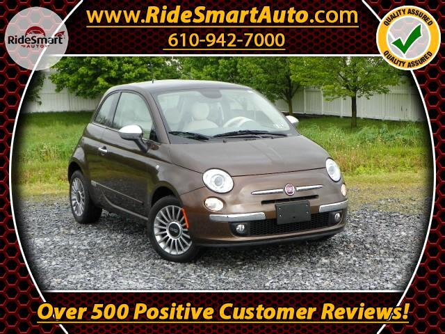 2015 Fiat 500 Lounge Hatback w/Leather-Heated Seats-Sunroof