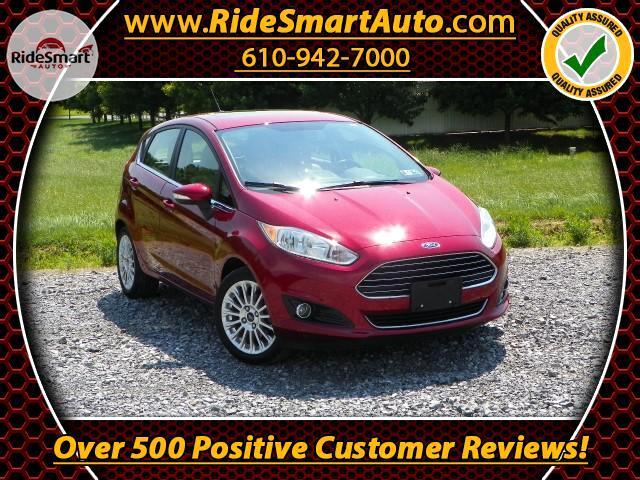 2014 Ford Fiesta Titanium Hatchback-Leather-Sunroof-Bluetooth-Navig